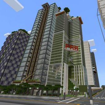 Avrin City Map for Minecraft PE