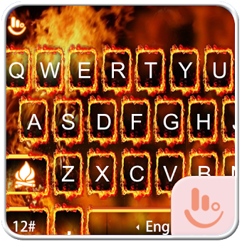 Burning Fire Keyboard Theme