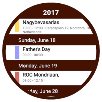 Calendar for android wear PRO