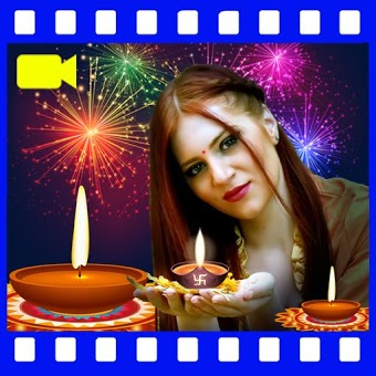 Diwali Video Maker: photo frames and Greetings